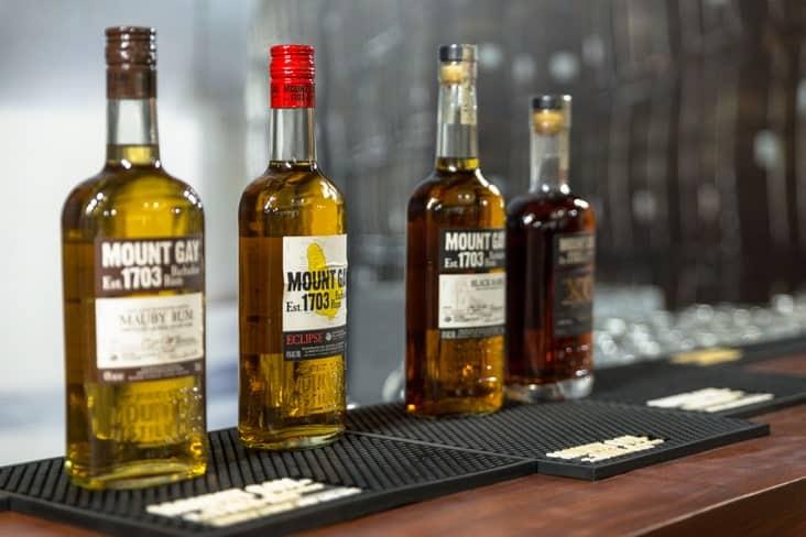 Bottles ofMount Gay rum