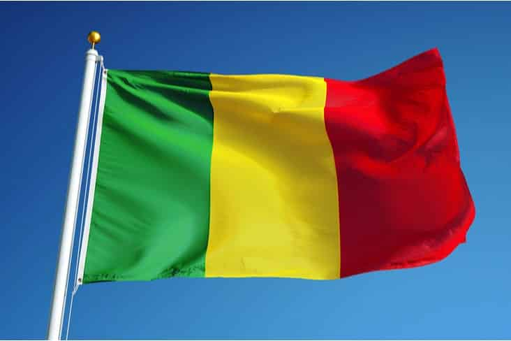 The flag of Mali