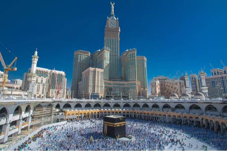 The Abraj Al Bait Towers in Mecca