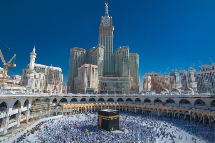 The Abraj Al Bait Towers in Mecca
