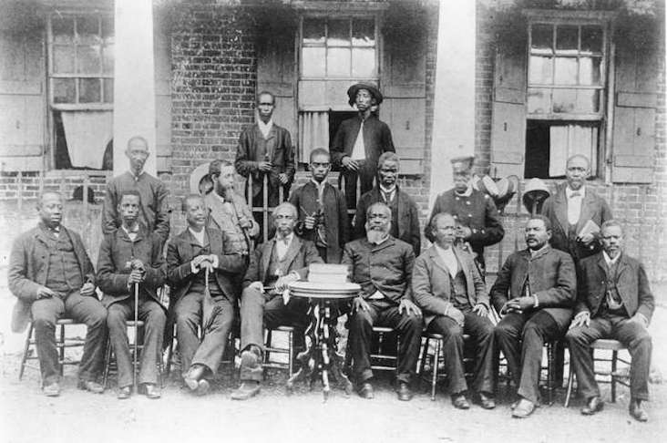The Liberian cabinet in the 1880s