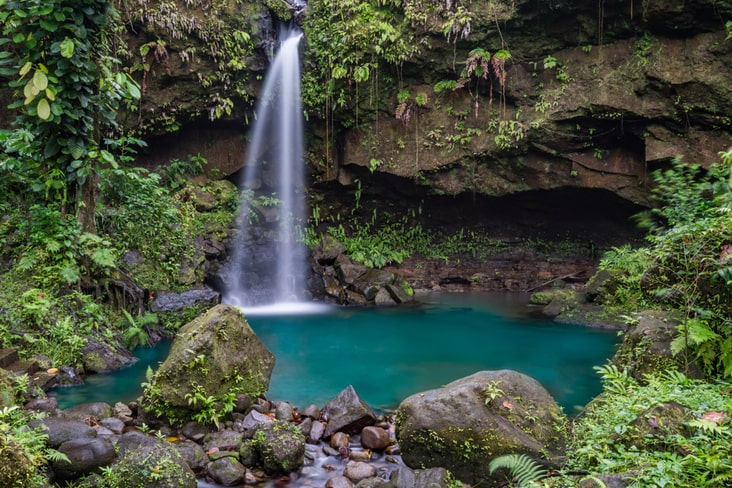 Interesting facts about Dominica include its striking scenery