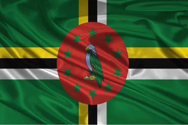 The flag of Dominica