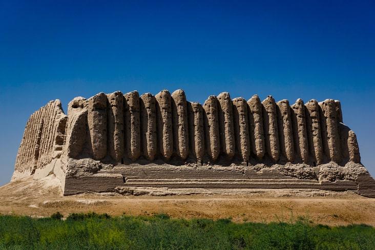 A fortress in Ancient Merv, Turkmenistan