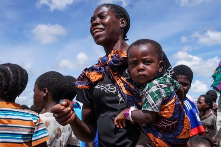 Zambian woman with children