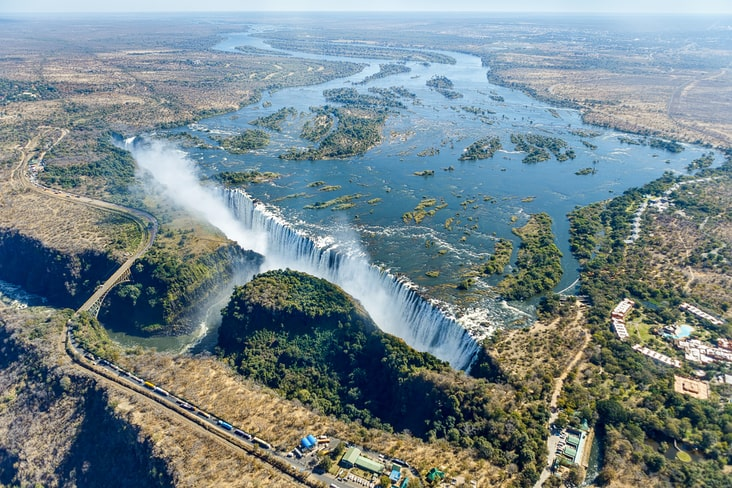 Interesting facts about Zambia include the spectacular Victoria Falls