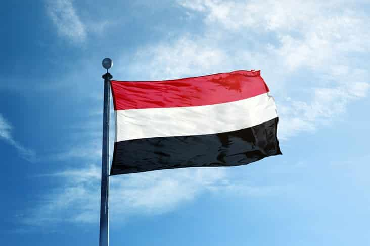 The flag of Yemen