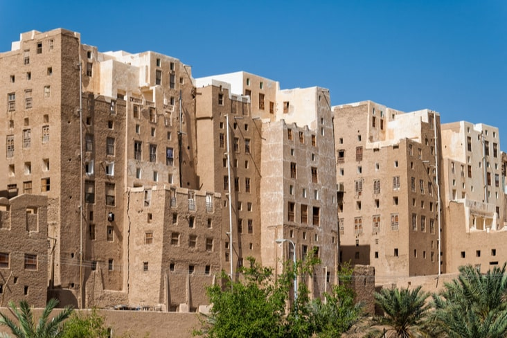 Shibam tower-like structures