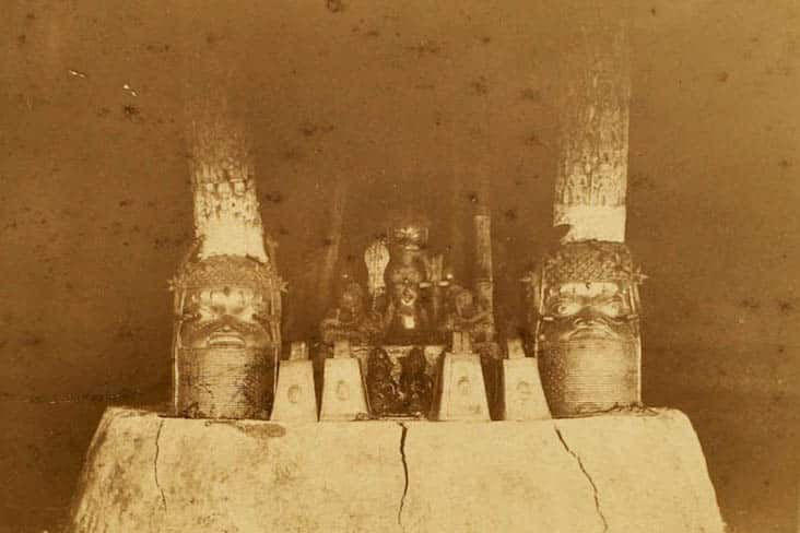 Ancestral shrine Royal Palace, Benin City, 1891