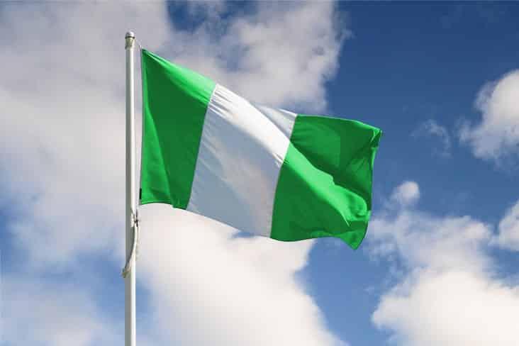 The flag of Nigeria