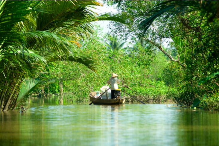 The Mekong River in Vietnam