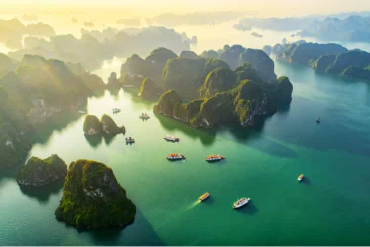 Interesting facts about Vietnam include the stunning Ha Long Bay