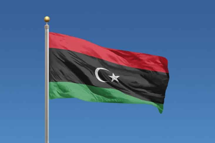 The flag of Libya today