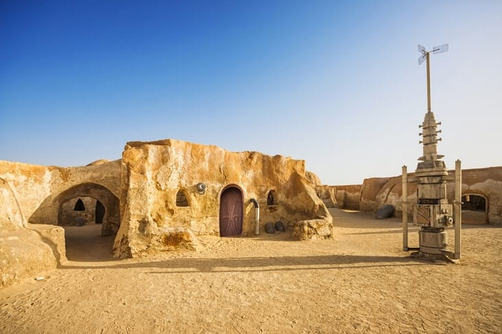 The village of Tataouine where scenese from Star Wars was shot