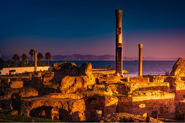 Interesting facts about Tunisia include the ancient city of Carthage