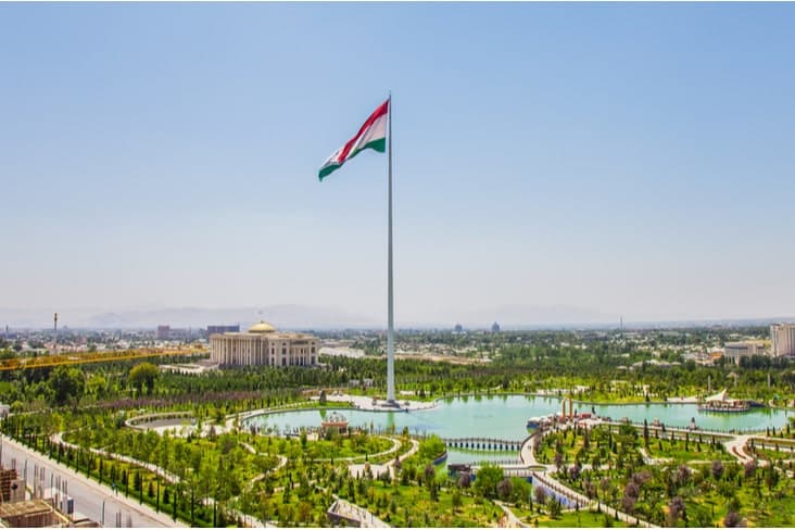 The Dushanbe Flagpole
