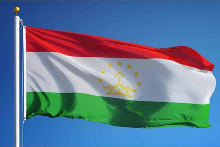 The flag of Tajikistan