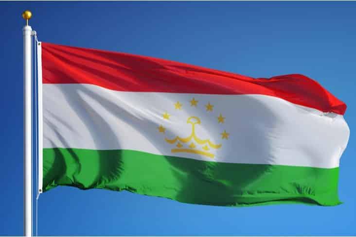 The flag of Tajikistan