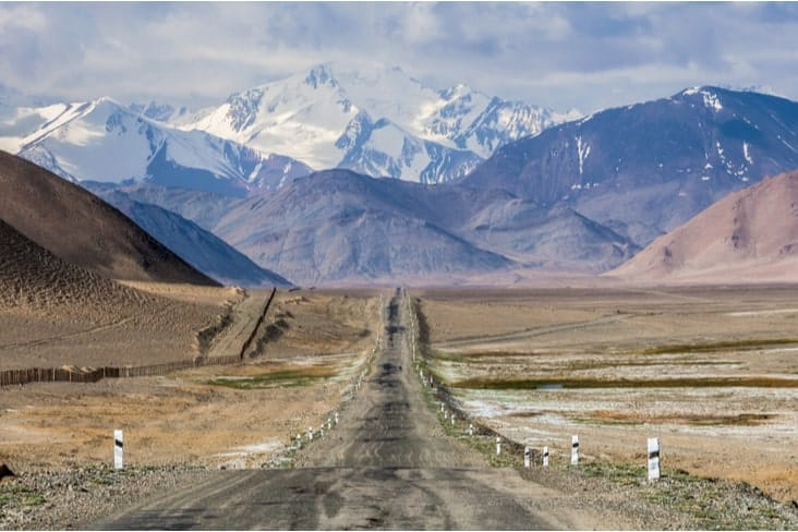 The world's second-highest road, the Pamir Highway