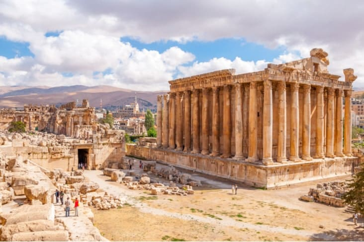 The ancient city ruins of Baalbek