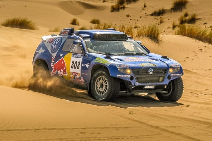 A car in the Dakar Rally