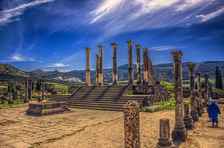 Archaeological Site of Volubilis in modern-day Morocco
