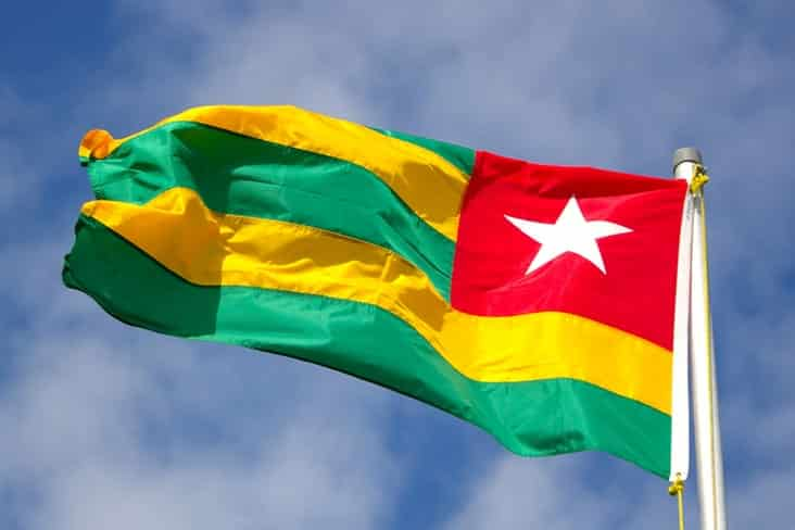 The flag of Togo