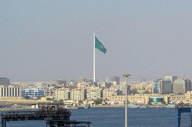 The Jeddah Flagpole seen from afar