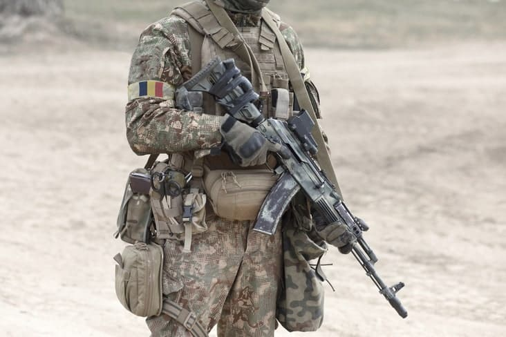 A soldier in Chad