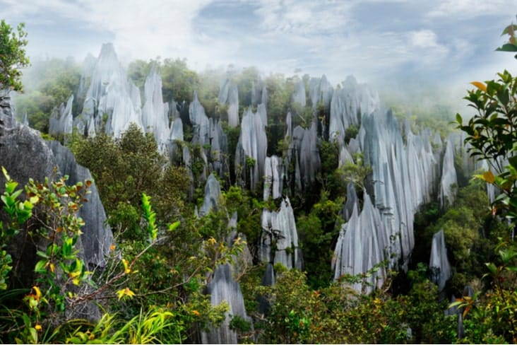 Interesting facts about Malaysia include the Gunung Mulu pinnacles
