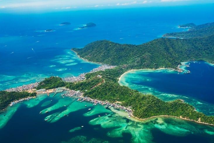 Gaya Island in Malaysia