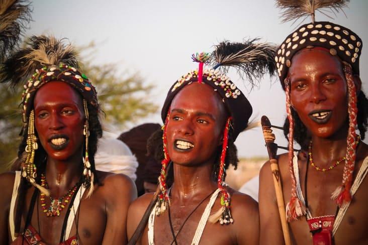 Men at the Gerewol festival