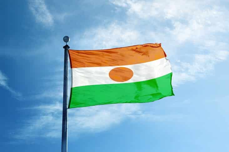 The flag of Niger