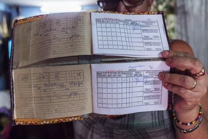 A Cuban rationing book