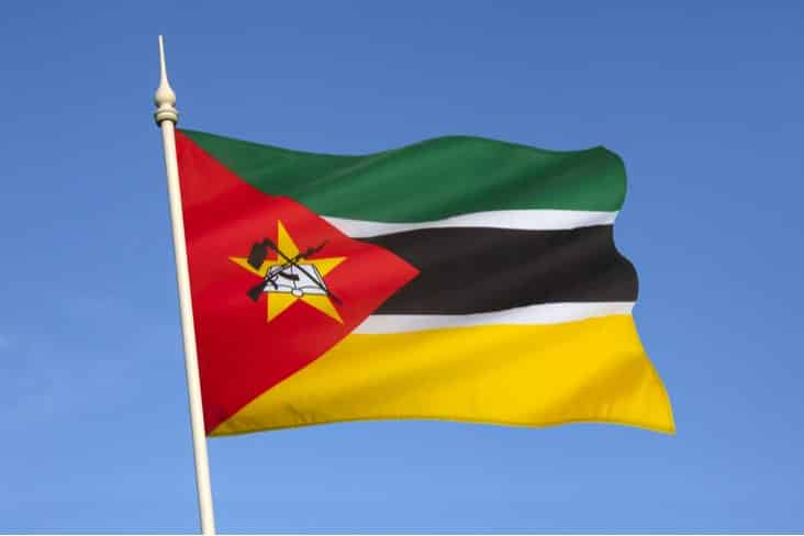 The flag of Mozambique