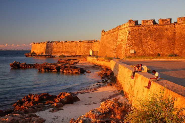 A fort on the Island of Mozambique