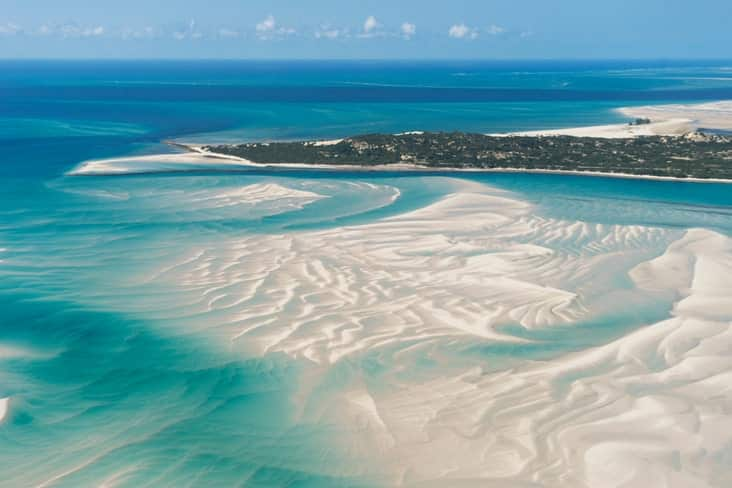 Sandy beaches in the Bazaruto Archipelago