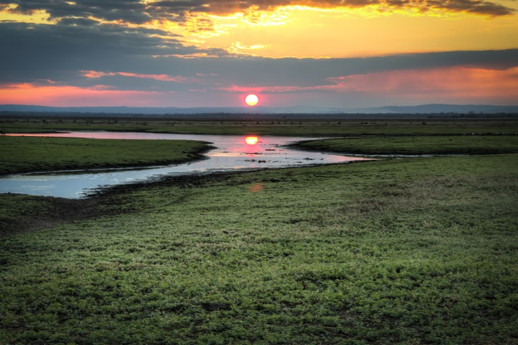 Sunset over Gorongosa National Park