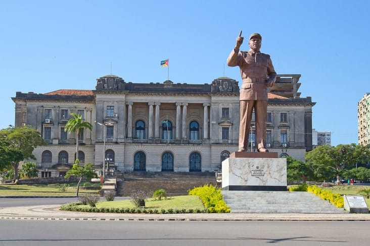 A statue of Samora Machel in Maputo