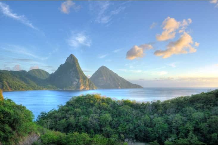 Interesting facts about Saint Lucia include the spectacular Pitons