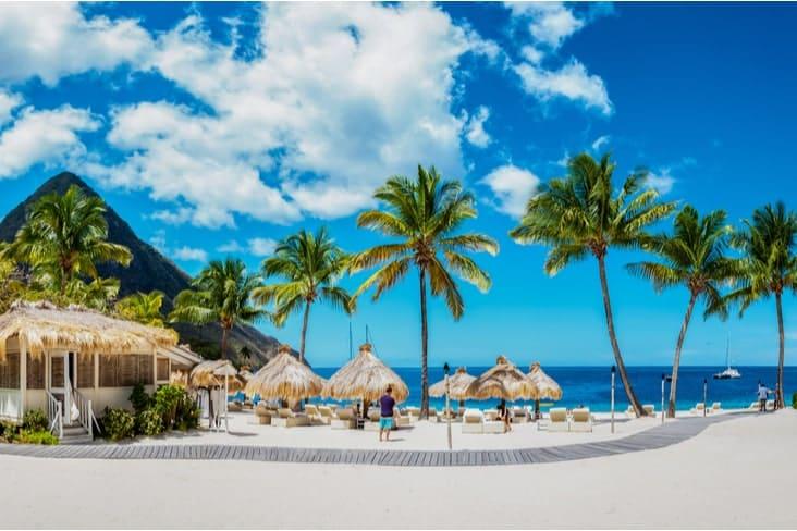 A luxury resort in Saint Lucia