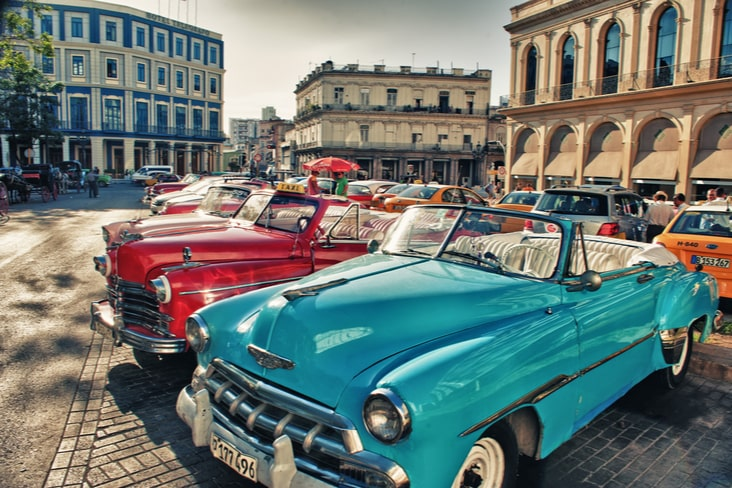 Interesting facts about Cuba include its classic cars