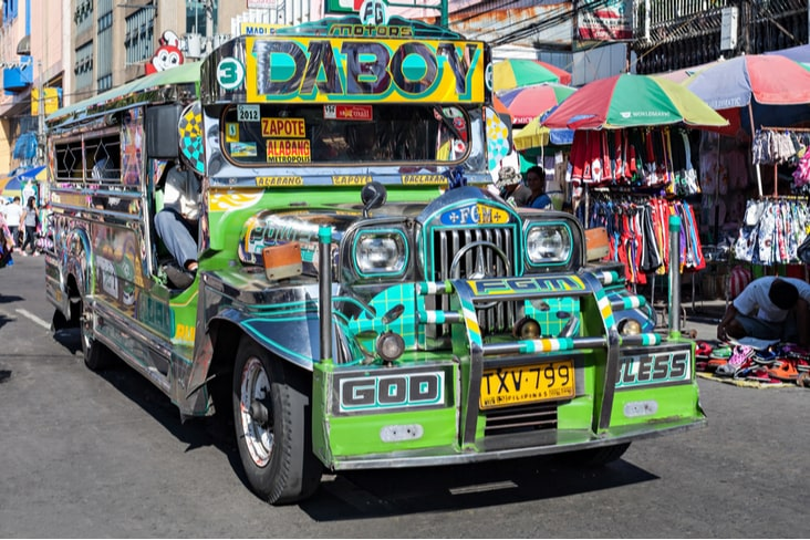 A Jeepney on a road