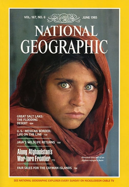 1985 cover of National Geographic magazine