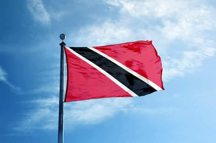 The flag of Trinidad and Tobago