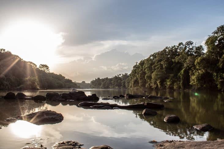 A river in Comoé National Park