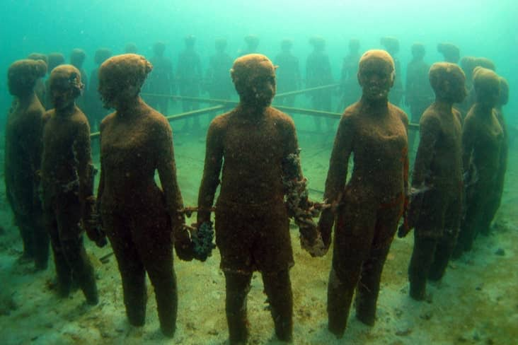 Interesting facts about Grenada include the world's first underwater sculpture park