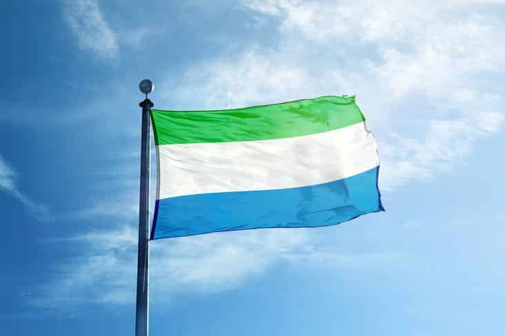 The flag of Sierra Leone