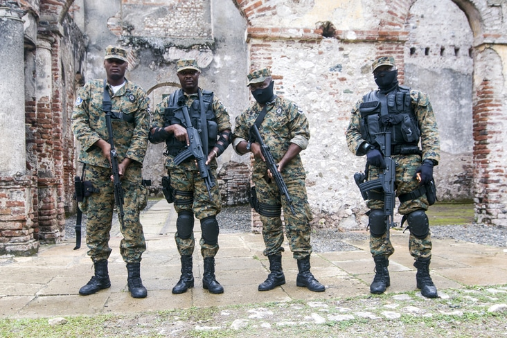 Haitian soldiers in 2017