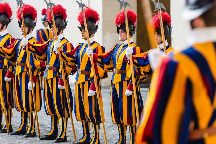 Vatican's Swiss Guard Corps are not considered an army